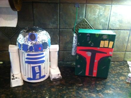 R2D2 n Bobba Fett boxes