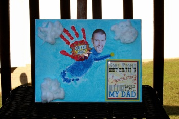 Photo Super Hero Dad project