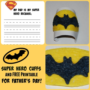Superhero Printable Letter Fathers-Day