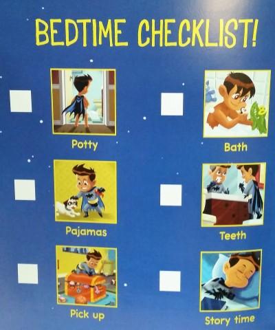 Batman Bedtime Checklist