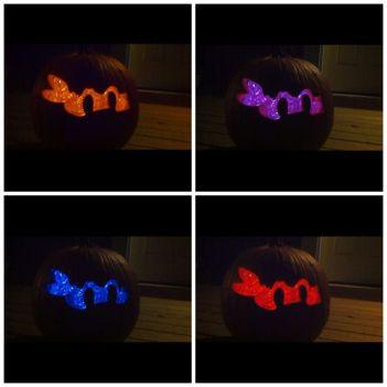 ninja-turtle-glow-stick-pumpkins