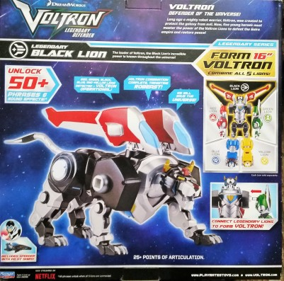 Voltron Black Lion back of box