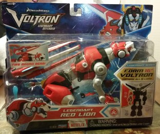 Voltron Red Lion front box