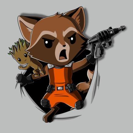 Tee Turtle rocket-raccoon-breakthrough-t-shirt