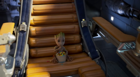 Baby Groot Eating a Snack 2
