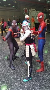 Spider Gwen Samurai with Spiderman