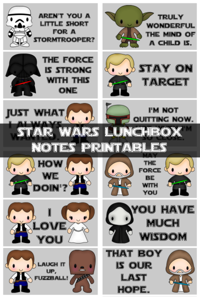 Star Wars Lunch Box Notes 2