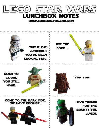 Star Wars Lunch Box Notes 3