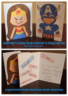 Superhero Mothers Day Card Craft