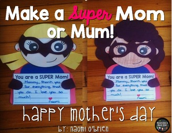 Superhero Mothers Day Card Craft2